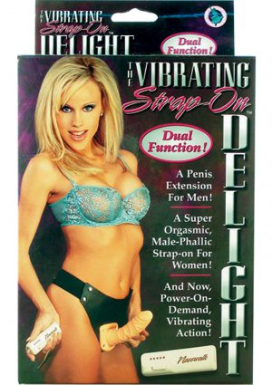 The Vibrating Strap On Delight Dual Function For Him or Her Flesh