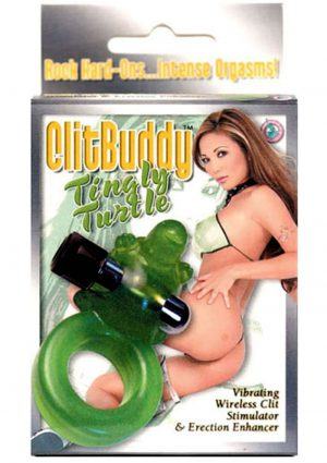 Clit Buddy Tingly Turtle Vibrating Wireless Clit Stimulator And Erection Enhancer Green