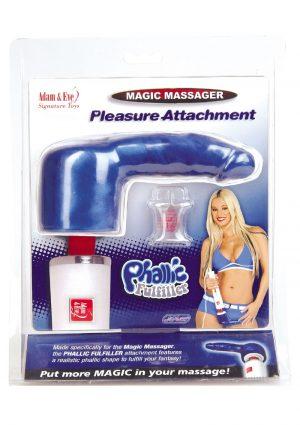 Adam And Eve Magic Massager Phallic Fulfiller Attachment Waterproof Blue