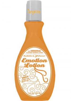 Emotion Lotion Flavored Water Based Warming Lotion Tangerine 4 Ounce