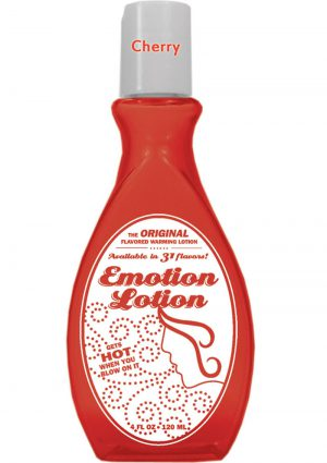 Emotion Lotion Flavored Water Based Warming Lotion Cherry 4 Ounce