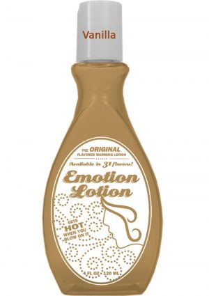Emotion Lotion Flavored Water Based Warming Lotion Vanilla 4 Ounce