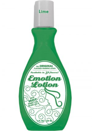 Emotion Lotion Flavored Water Based Warming Lotion Lime 4 Ounce