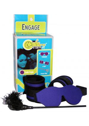 Whip Smart Engage Bondage Kit Exotic Purple