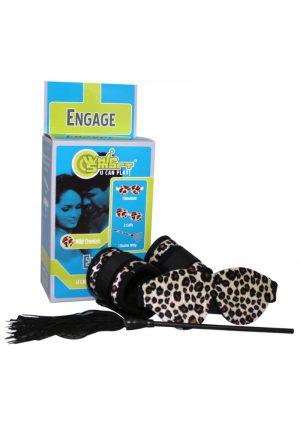 Whip Smart Engage Bondage Kit Cheetah