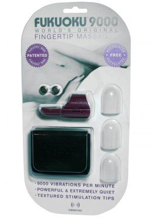 Fukuoku 9000 Fingertip Massager With Stimulating Tips Silicone