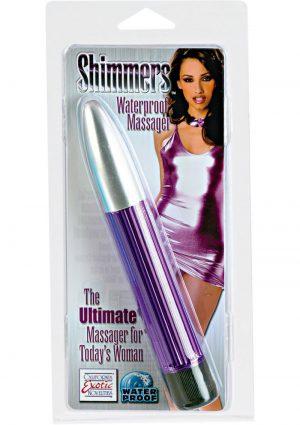 SHIMMERS WATERPROOF MASSAGER 6.5 INCH PURPLE