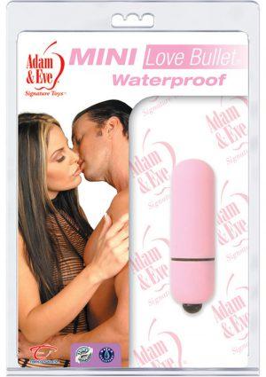 Adam And Eve Mini Love Bullet Waterproof Pink