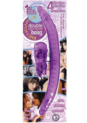 Bendable Double Dong Vibrator Multispeed Lavender