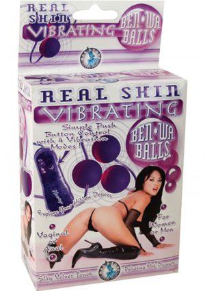 Real Skin Vibrating Ben Wa Balls Purple