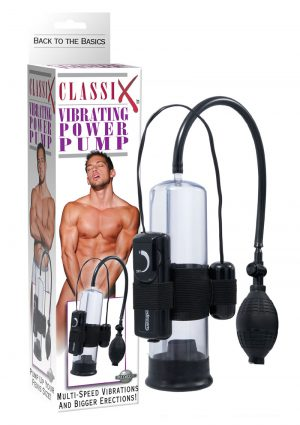 Classix Vibrating Power Pump 7.5 Inch Black