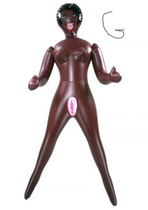 MISS DUSKY DIVA INFLATABLE DOLL 26 INCH