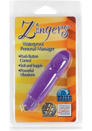 Zingers Personal Massager Waterproof Purple