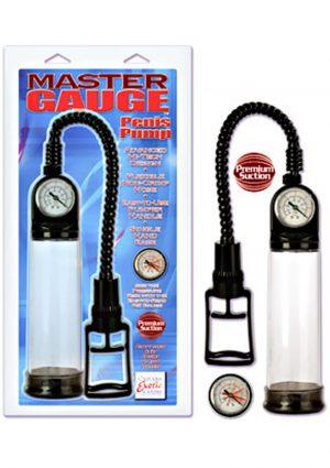 MASTER GAUGE PENIS PUMP 8 INCH CLEAR