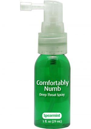 Comfortably Numb Deep Throat Spray Spearmint 1 Ounce