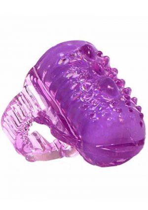Ling O VibratingVibrating Tongue Ring Silicone Waterproof Purple
