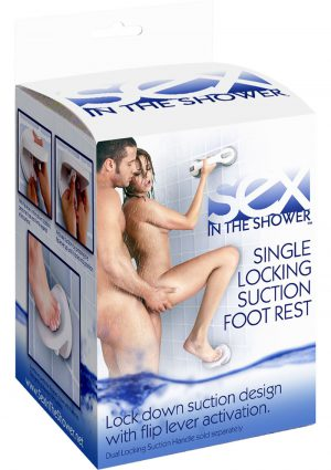 Sex In The Shower Single Locking Suction Foot Rest White