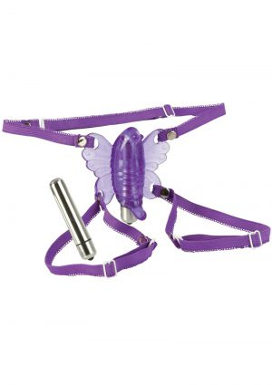 WIRELESS VENUS BUTTERFLY WITH REMOVABLE BULLET PURPLE