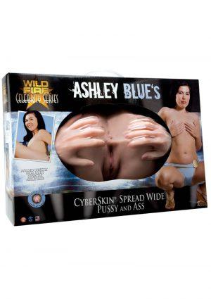 Ashley Blue Cyberskin Spread Wide Pussy and Ass Masturbator Waterproof Flesh