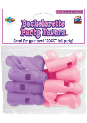 Bachelorette Party Favors Pecker Whistles 8 Pack