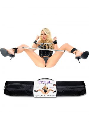 Fetish Fantasy Spread Em Bar And Cuffs Set Black