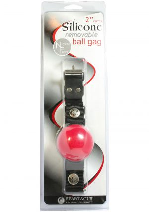 Removable Silicone Ball Gag 2 Inch Red