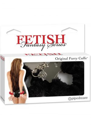 Fetish Fantasy Series Furry Cuffs Black