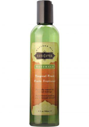 Naturals Sensual Massage Oil Tropical Fruits 8 Ounce