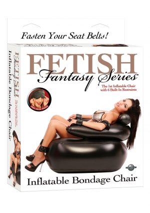 Fetish Fantasy Series Inflatable Bondage Chair Black