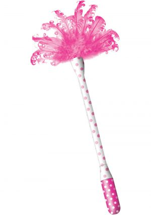 Horny Honey Feather Tickler With Vibrating Handle Pink
