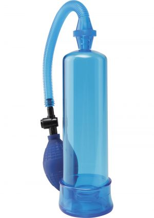 Pump Worx Beginners Power Pump With Cockring Blue