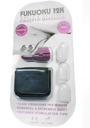Fukuoku 12K Fingertip Massager With Stimulating Tips Silicone