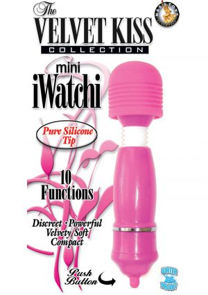 The Velvet Kiss Collection Mini iWatchi Silicone Tip Massager Waterproof Pink
