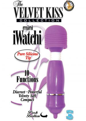 The Velvet Kiss Collection Mini iWatchi Silicone Tip Massager Waterproof Purple