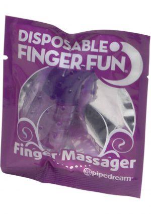 Disposable Finger Fun Finger Massager Waterproof Purple