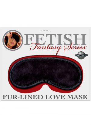 Fetish Fantasy Series Fur Lined Satin Love Mask Black