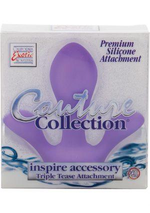 Couture Collection Inspire Accessory Triple Tease Silicone Attachment Purple