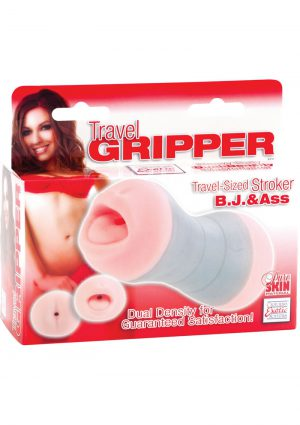 Travel Gripper BJ And Ass Masturbator Pink