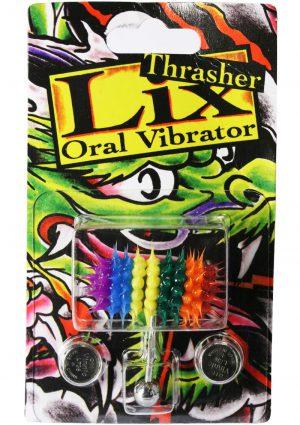 Lix Oral Vibrator Rainbow Anodized