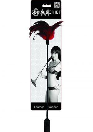 Sex And Mischief Feather Slapper Black