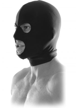 Fetish Fantasy Series Limited Edition Spandex Hood Black