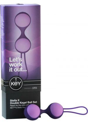 Key Stella II Double Kegel Ball Set Silicone Purple