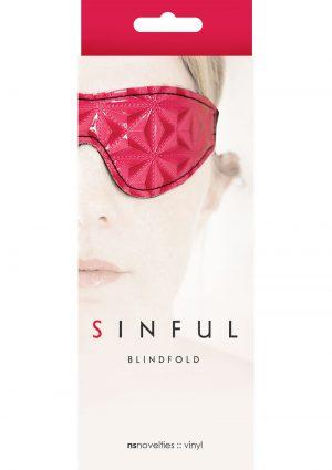 Sinful Vinyl Blindfold Pink