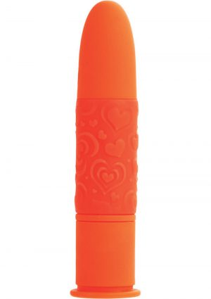 Posh 10 Function Pocket Teaser Silicone Vibrator Waterproof Orange 3.75 Inch