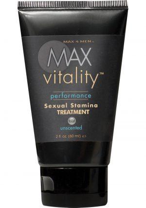 Max 4 Men Max Vitality Performance Sexual Stamina Treatment 2 Ounce