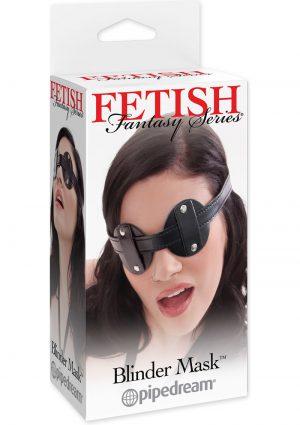 Fetish Fantasy Series Vinyl Blinder Mask Black
