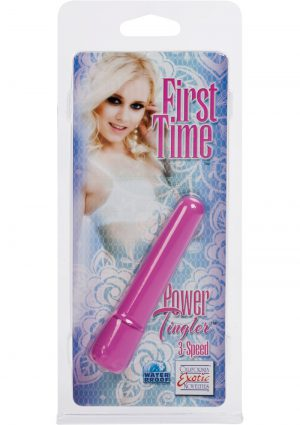 First Time Power Tingler Mini Vibrator Waterproof Pink 2.75 Inch