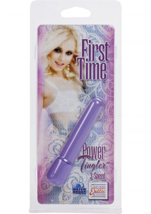 First Time Power Tingler Mini Vibrator Waterproof Purple 2.75 Inch