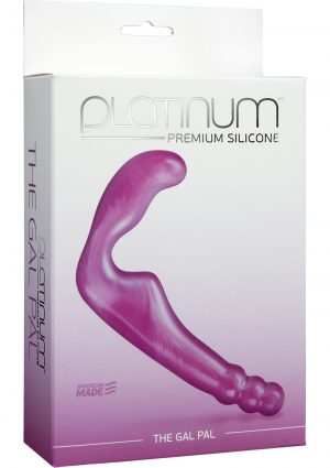 Platinum Premium Silicone The Gal Pal Strapless Strap-On G-Spot Purple 6.2 Inch