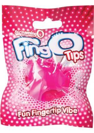 Screaming O Fing O Tips Silicone Finger Massagers Pink